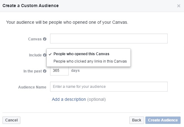 create a custom Audience Page in canva