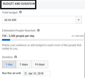Budget-Duration-facebook-boost-post-techiflyer